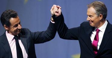 Tony Blair en Nicholas Sarkozy