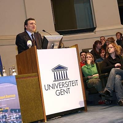 Barroso aan de UGent