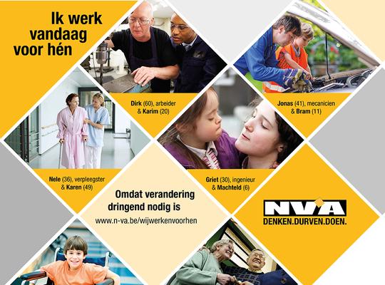 Ik werk vandaag voor hen: brochure veranderingen N-VA